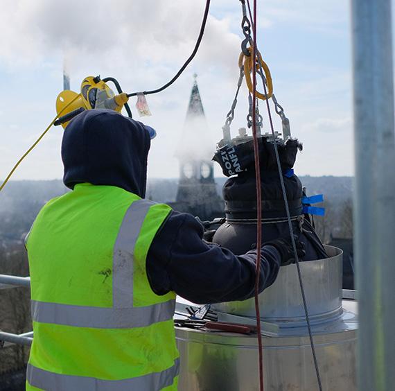 Large School Chimney Lined for Condensing Boilers – FuranFlex Case Studies