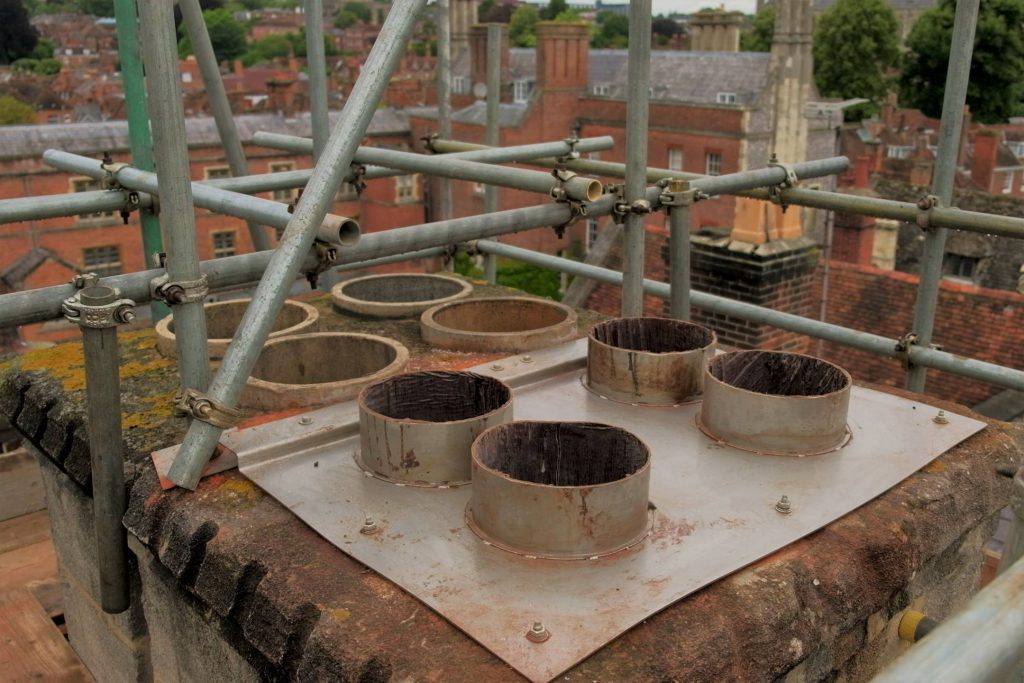 chimney ventilation duct